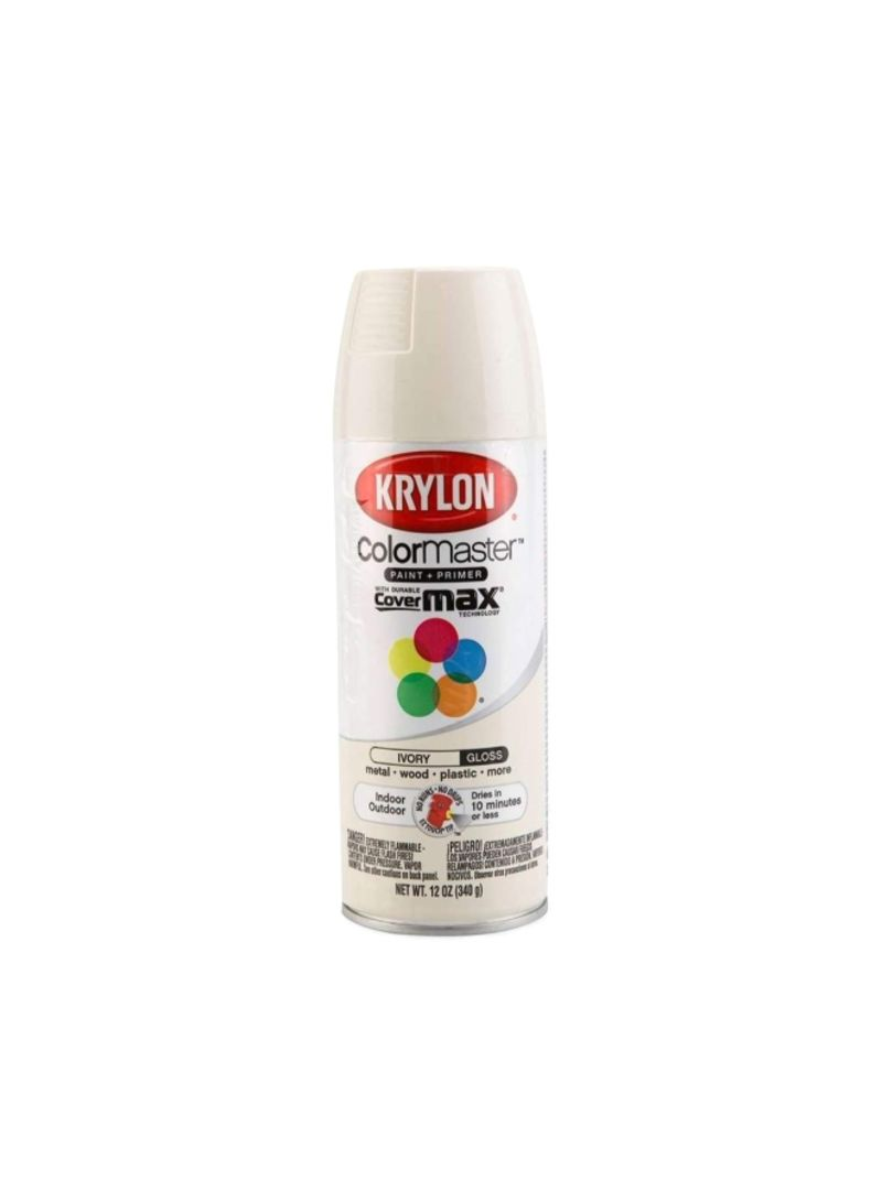 Shop Krylon Colormaster Gloss Paint And Primer Spray Paint Ivory 12 Ounce Online In Dubai Abu Dhabi And All Uae