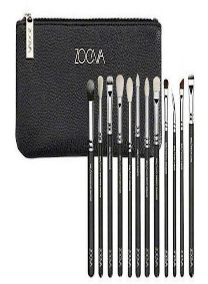 cd8d058a2c3a Shop Zoeva Professional Beauty 12 pcs/Sets Makeup Brushes Set for Eye  Shadow Foundation Eyebrow Lip Brush with Pu Bag for Women Girls Brown  online in ...