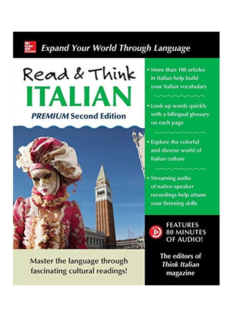 Shop Read And Think Italian Paperback online in Egypt