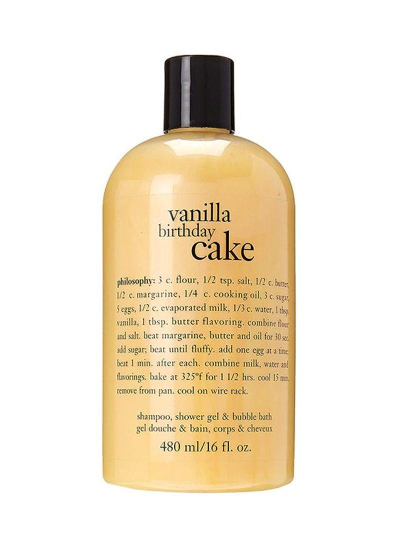 Vanilla Birthday Cake Bath Care Body Wash 16 Ounce