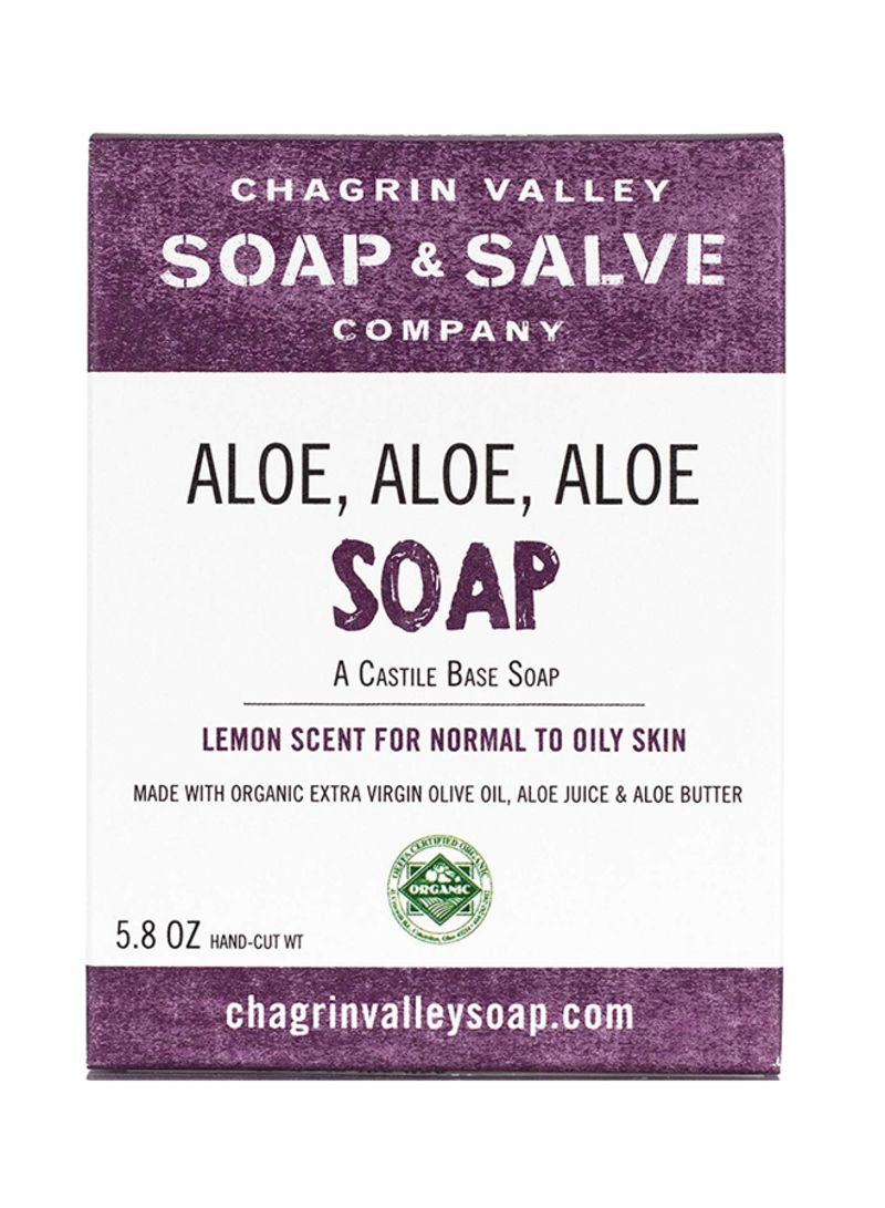 Shop Chagrin Valley Soap & Salve Organic Natural Soap Bar, Aloe Aloe Aloe,  Chagrin Valley Soap & Salve online in Dubai, Abu Dhabi and all UAE