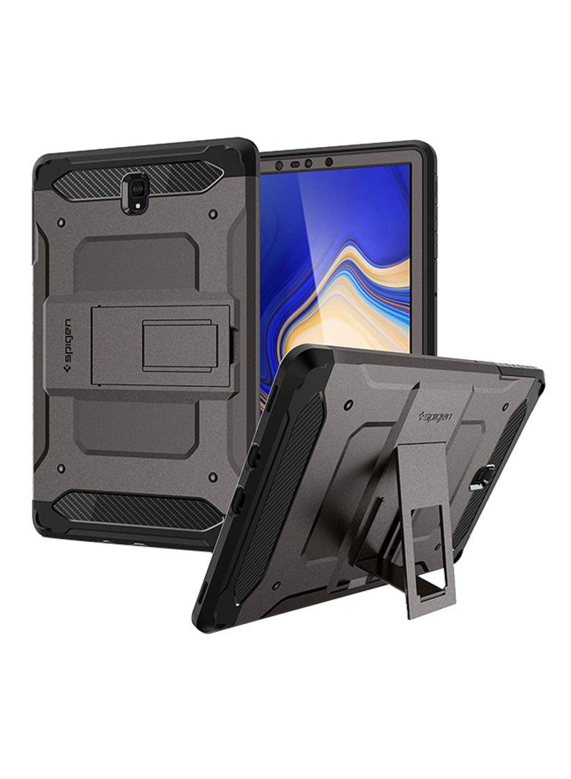 super popular 87576 1f95f Shop Spigen Samsung Galaxy Tab S4 10.5 Inch Tough Armor Tech Kickstand Case  Cover -Full Cover With Tempered Glass Screen Protector Gunmetal online in  ...