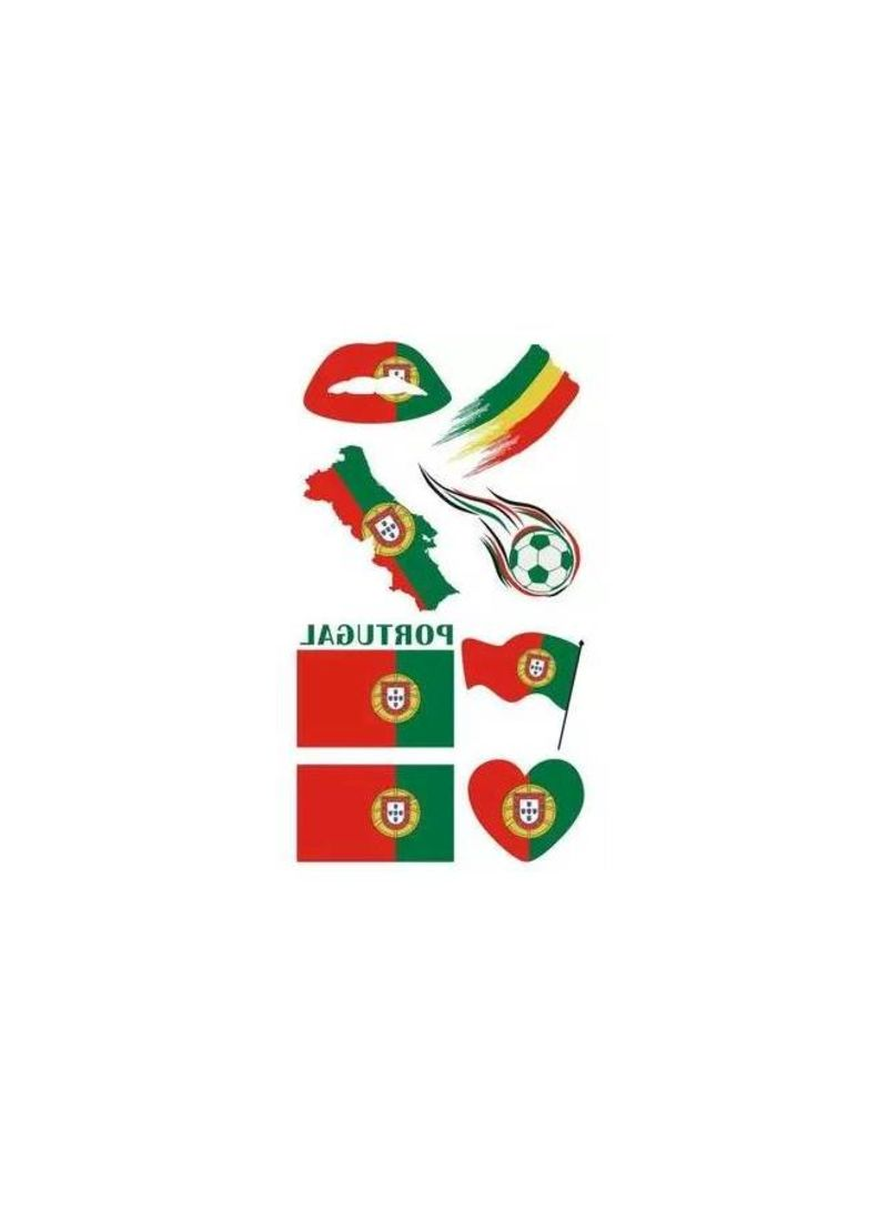 buy online 2d6d8 95c3f Shop Generic 2018 World cup national flag Portugal Football Team face  stickers Long-lasting waterproof Tattoo sticker for fan online in Dubai,  Abu ...