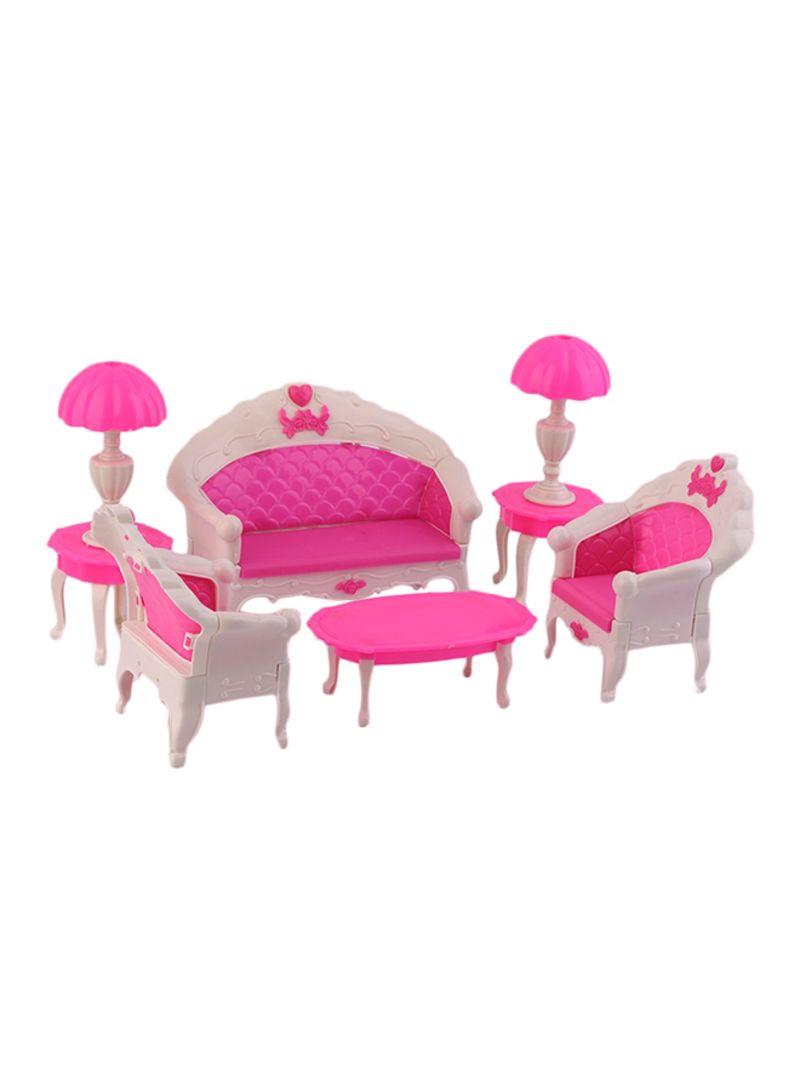 Astounding Shop Generic 6Pcs Toys For Barbie Doll Sofa Chair Couch Desk Short Links Chair Design For Home Short Linksinfo