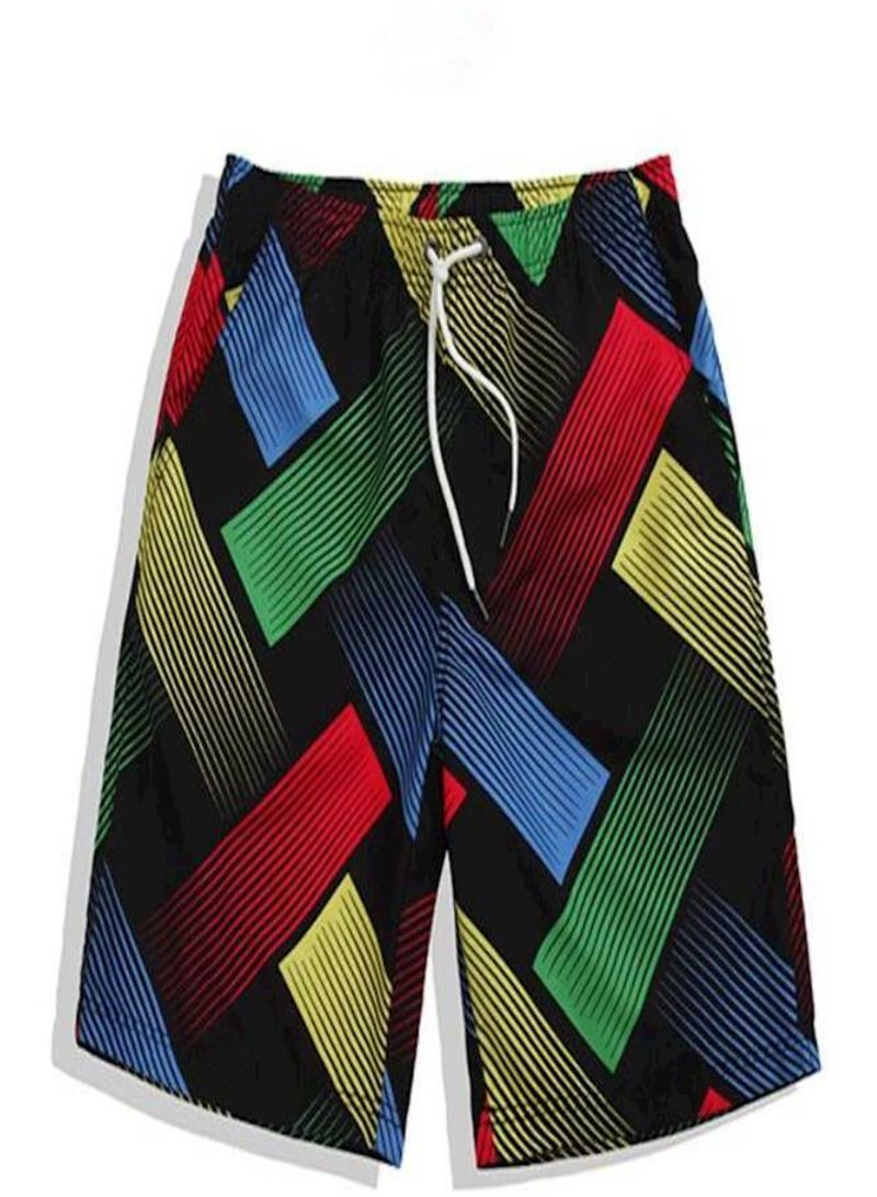 28d7a5536c922 Fashion casual Mens Summer Casual Athletic Beach pants Swimming Vacation  Spring Surfing sports quick-drying Shorts,Black bottom weave Multi Color