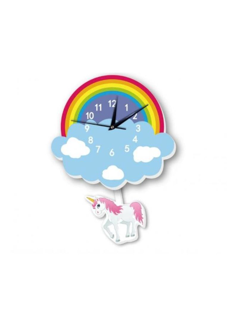 Buy Now Generic Cartoon Lovely Home Decoration Accessories Wall Stickers 3d Rainbow Unicorn Wall Clock Background Decoration For Kids Rooms Home