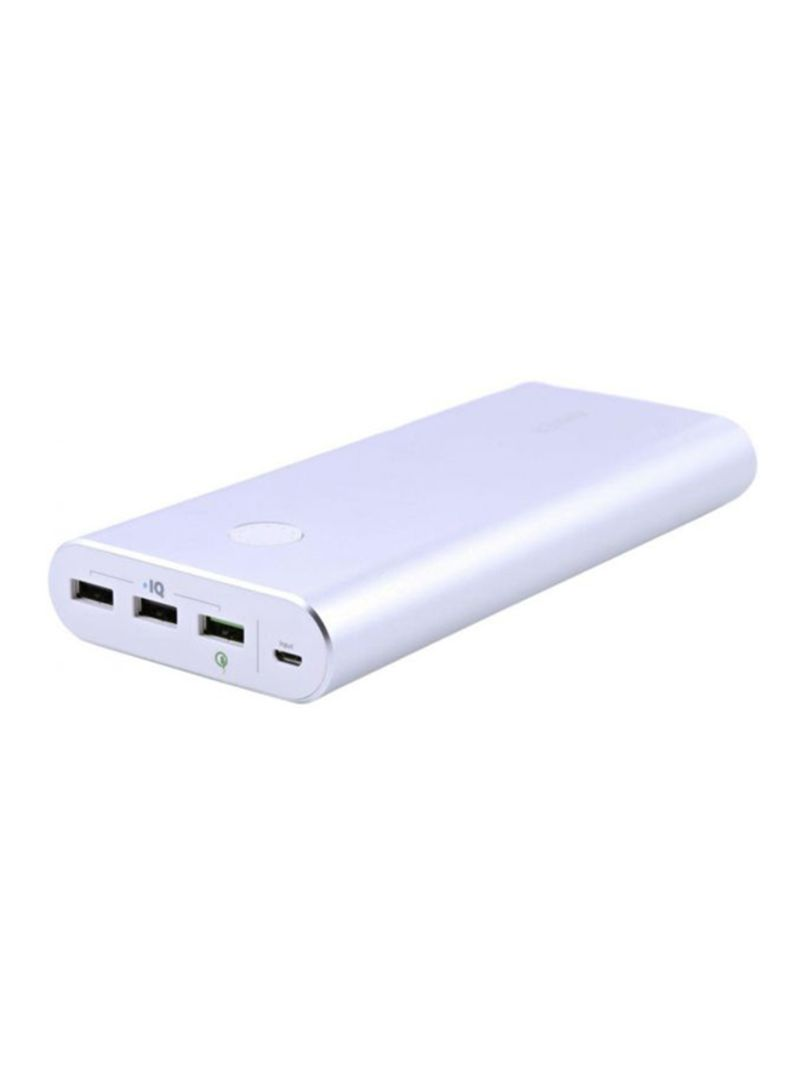 Shop Anker Powercore 26800 Mah Quick Charge 3 0 Power Bank For Mobile Phones Silver Online In Dubai Abu Dhabi And All Uae