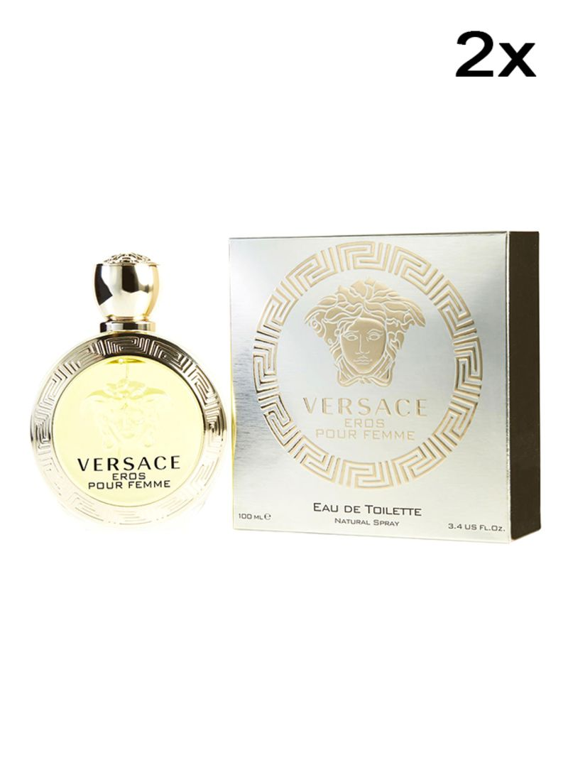 Shop Versace Set Of 2 Eros Pour Femme Edt 100ml Online In Dubai Abu Dhabi And All Uae