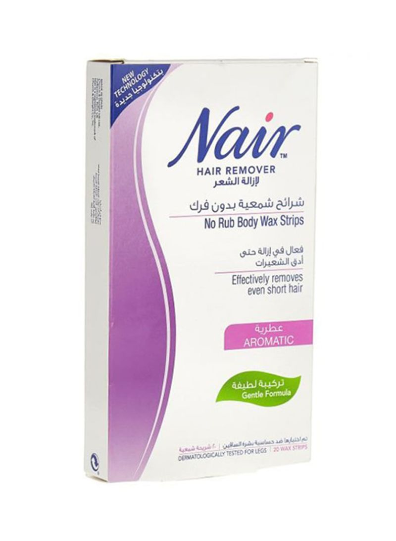 No Rub Body Wax Strips Hair Remover 20 Strips Price In Saudi