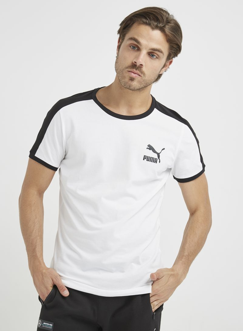 Shop Puma Iconic T7 Slim T Shirt White online in Dubai, Abu