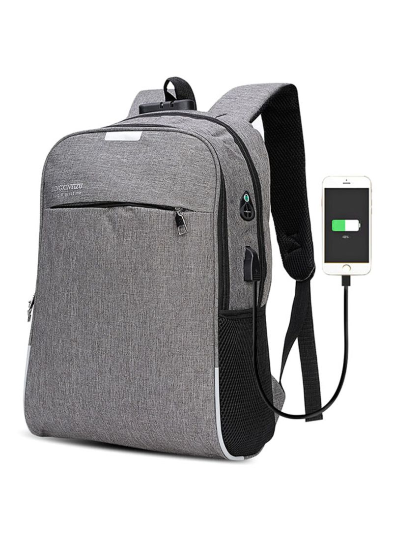58a44ac4d642 Shop Generic Dingxinyizu Usb Charging Bag Night Reflection Anti-Theft  Backpack Grey online in Dubai, Abu Dhabi and all UAE
