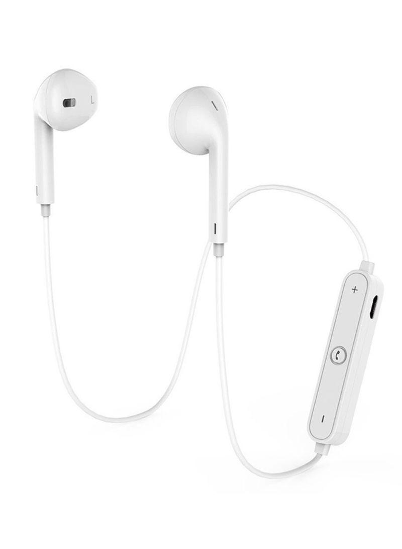 S6 Sports Headphones Wireless Bluetooth Headset Earphone For Iphone Samsung White Price In Saudi Arabia Noon Saudi Arabia Kanbkam