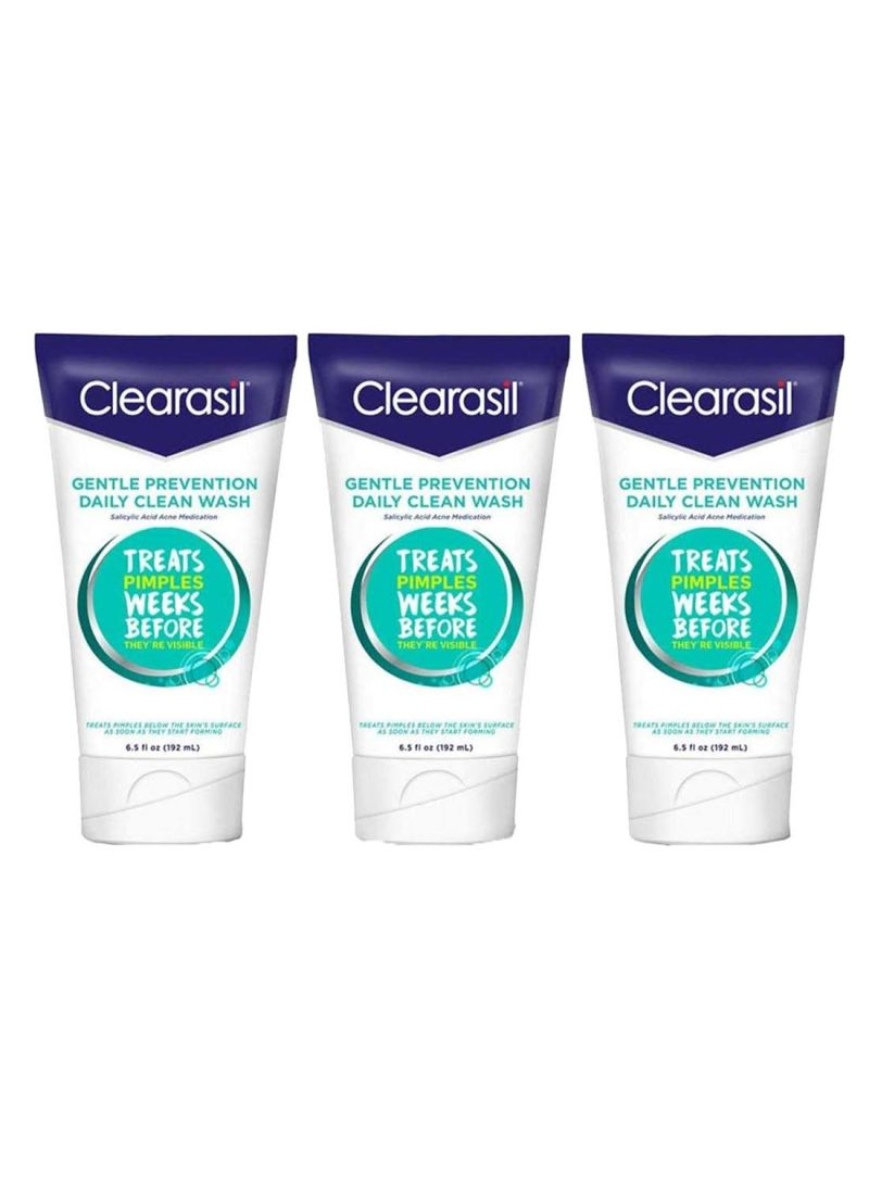 Shop Clearasil Pack Of 3 Daily Clear Acne Face Wash 6 5 ounce online in  Dubai, Abu Dhabi and all UAE
