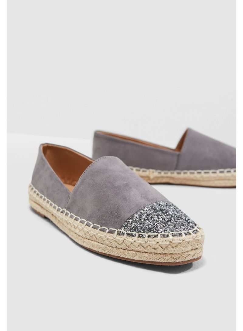 d33982c2767 Shop Ginger By Namshi Espadrilles With Glitter Toe online in Riyadh ...
