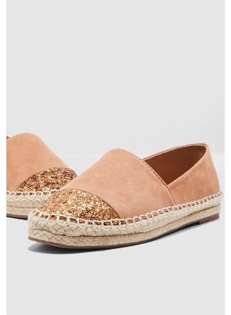 75d44aea764 Shop Ginger By Namshi Espadrilles With Glitter Toe online in Dubai ...