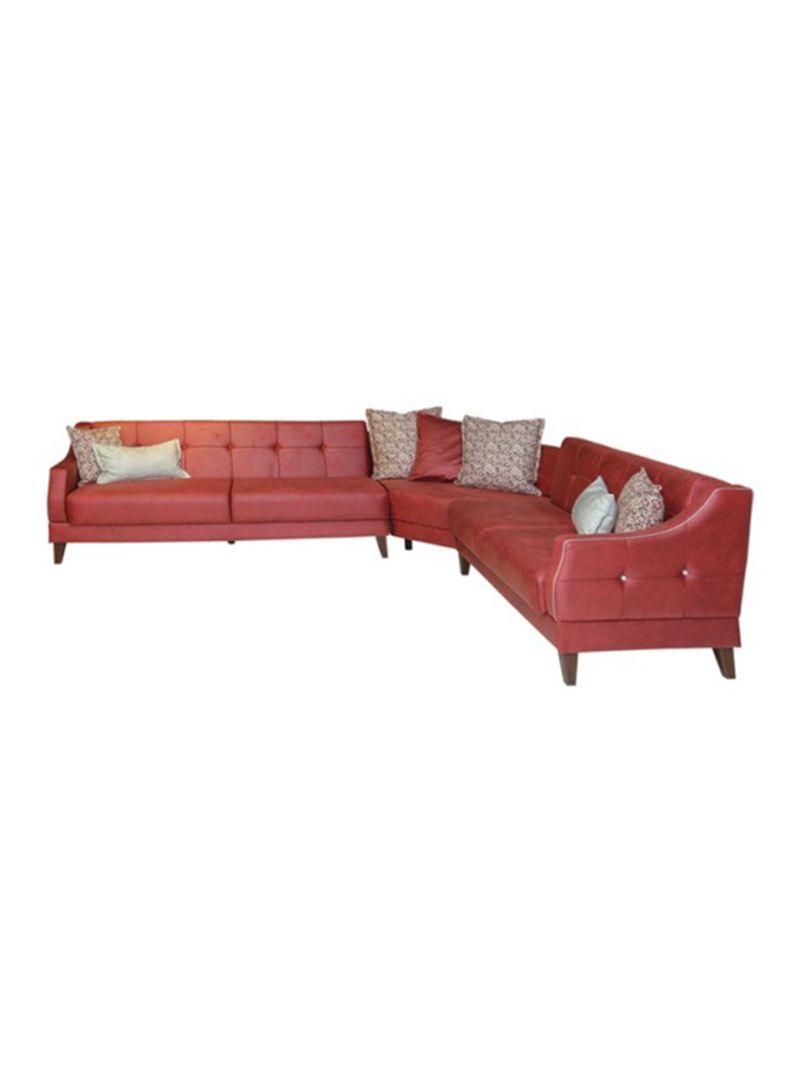 best website 31188 54d85 Shop PAN emirates Fyffe Corner Sofa Set Red 300 x 250 x 80 ...