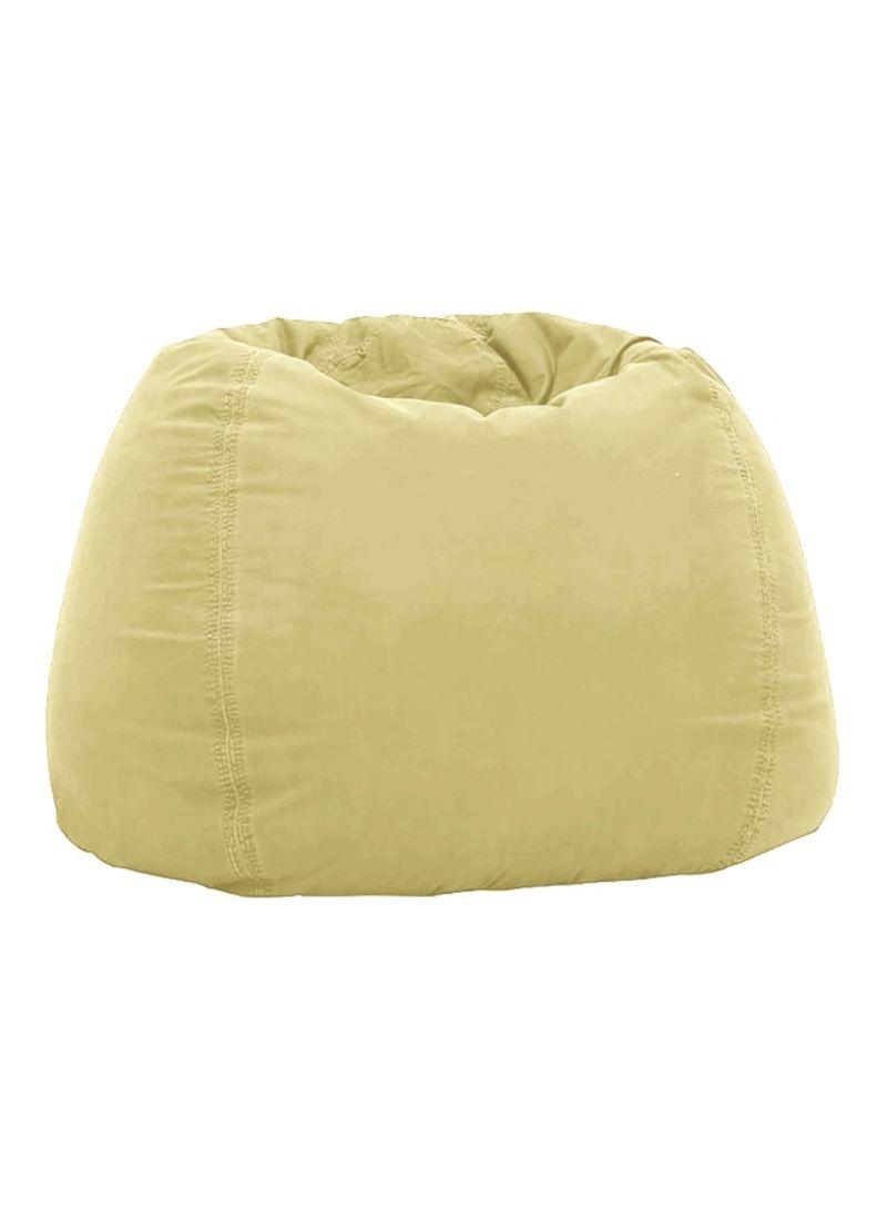 Awe Inspiring Shop Regal In House Velvet Bean Bag Light Yellow 02 S Online Machost Co Dining Chair Design Ideas Machostcouk