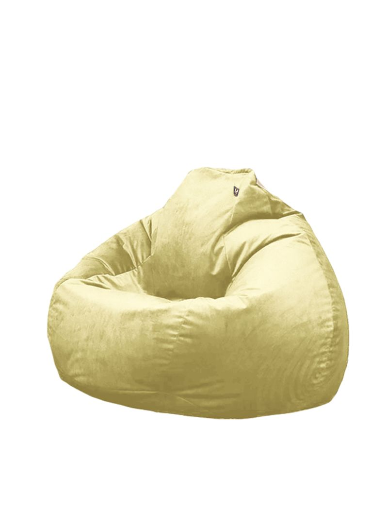 Astonishing Shop Regal In House Velvet Bean Bag Light Yellow 02 M Online Machost Co Dining Chair Design Ideas Machostcouk