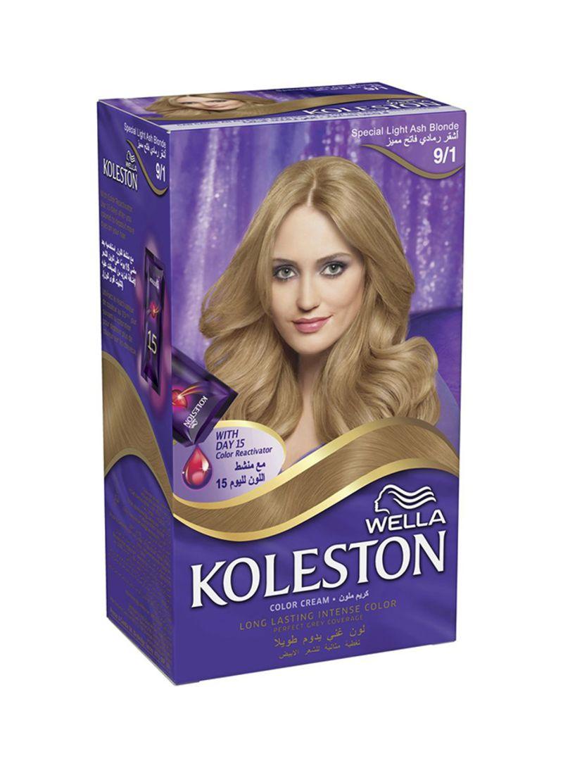 Shop Koleston Kit 9 1 Light Ash Blonde Hair Colour 9 1 Ash Blonde 142ml Online In Riyadh Jeddah And All Ksa