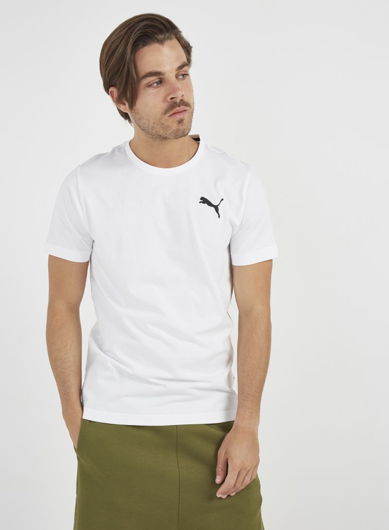 Shop Puma ESS Logo T Shirt Puma White _Cat online in Dubai, Abu Dhabi and all UAE