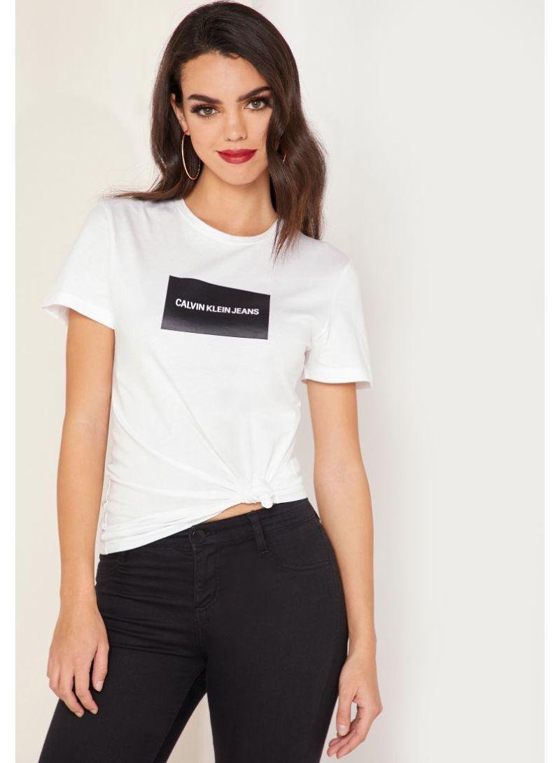 Shop Calvin Klein Jeans Institutional Box Logo Slim Fit T
