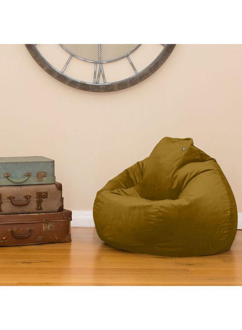 Strange Shop Regal In House Velvet Bean Bag Chair Dark Camel 7 Kg Andrewgaddart Wooden Chair Designs For Living Room Andrewgaddartcom