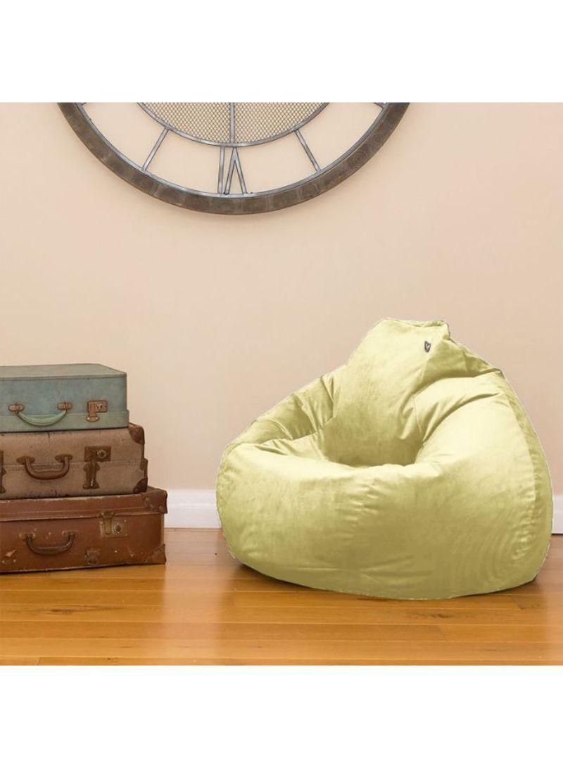 Pleasing Shop Regal In House Velvet Bean Bag Chair Light Yellow 7 Kg Machost Co Dining Chair Design Ideas Machostcouk