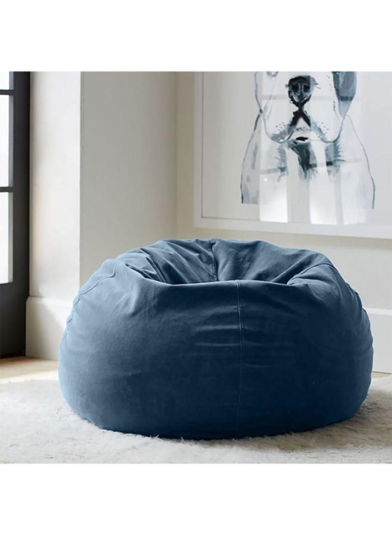 Pleasing Shop Regal In House Velvet Bean Bag Chair Blue 7 Kg Online Andrewgaddart Wooden Chair Designs For Living Room Andrewgaddartcom