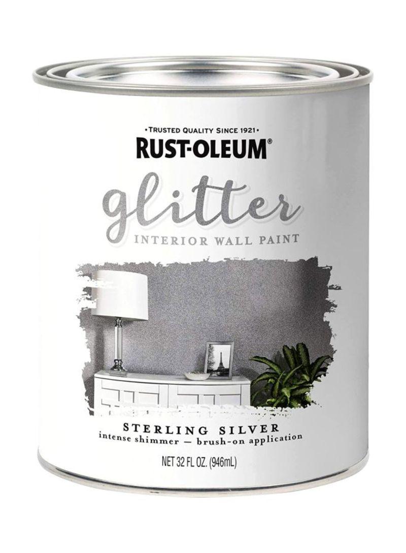 Shop Rust Oleum Specialty Glitter Spray Paint Silver 32 Ounce Online In Dubai Abu Dhabi And All Uae