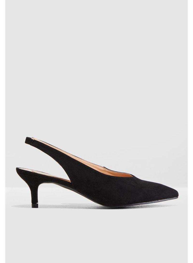 5af10146407 Shop Ella By Namshi Slingback Court Shoes With Kitten Heels online ...