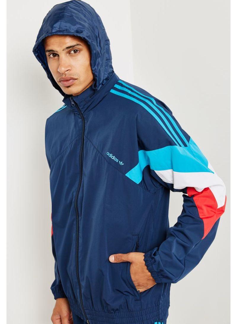 Shop adidas Originals Palmeston Windbreaker Jacket Navy