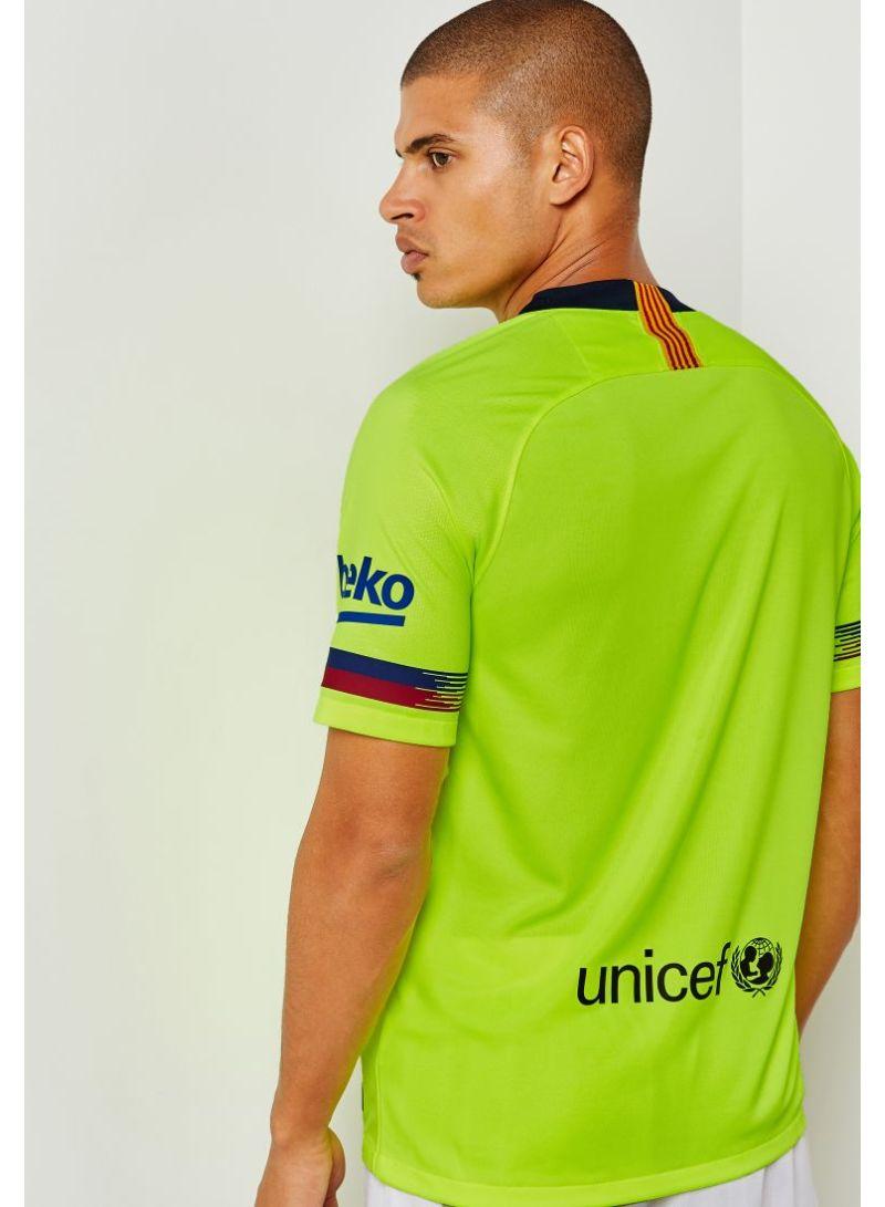Shop Nike Fc Barcelona Away Jersey 18 19 Neon Yellow Online In Dubai Abu Dhabi And All Uae