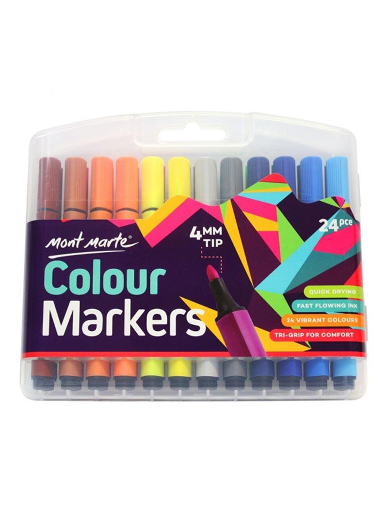 Shop Mont Marte 24 Piece Texta Markers Set Multicolour Online In Dubai Abu Dhabi And All Uae
