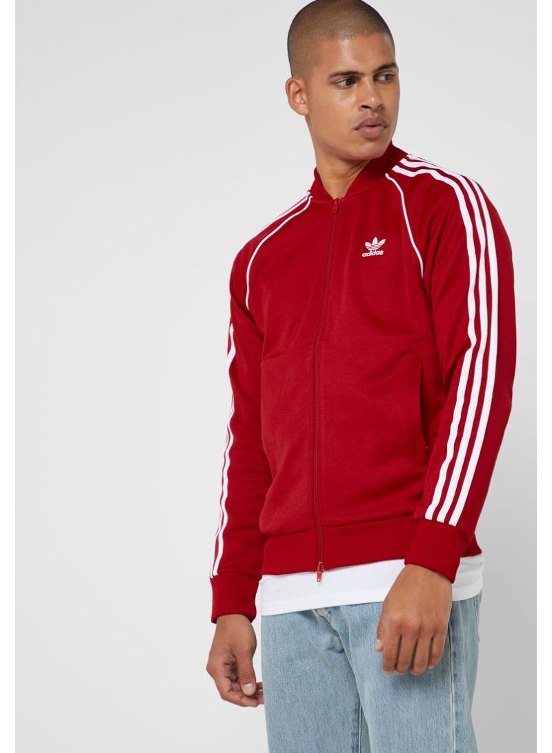 Shop adidas Originals Adicolor Superstar Track Jacket Red