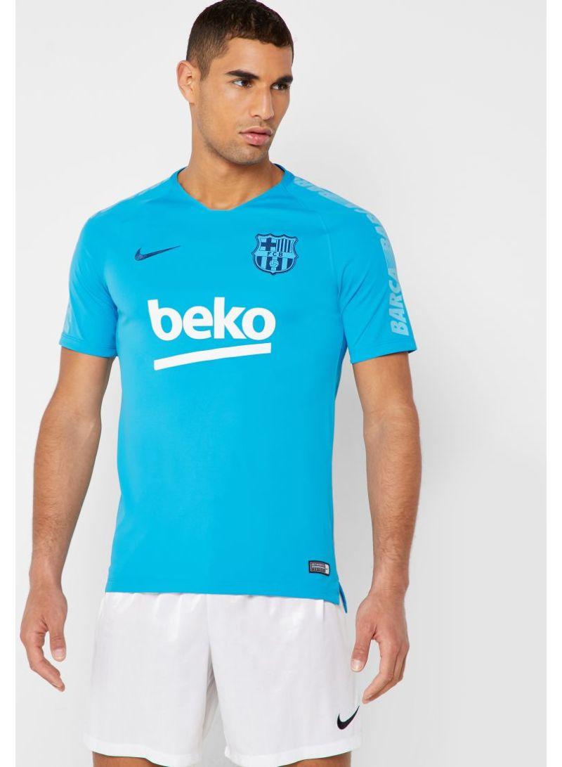 pretty nice 75b26 66eb1 Shop Nike FC Barcelona Breathe Squad T-Shirt Blue online in ...