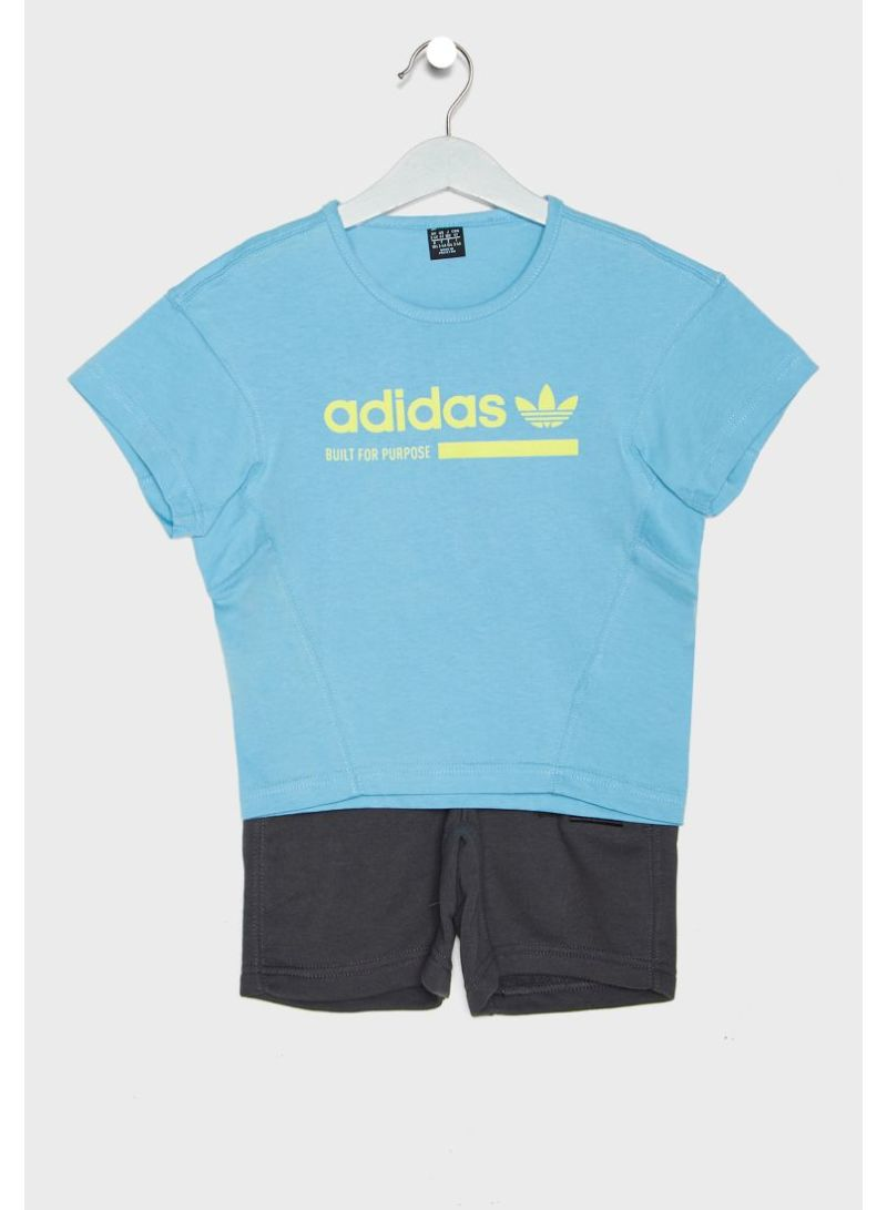 Shop adidas Originals Kids Kaval T Shirt And Short Set