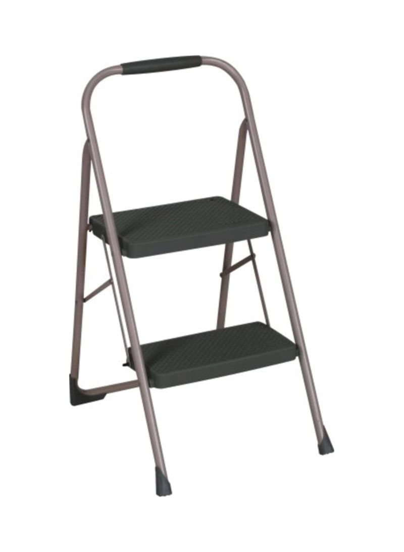 Outstanding Shop Cosco Foldable Two Step Ladder Silver Grey 22 8X17 7X34 Ibusinesslaw Wood Chair Design Ideas Ibusinesslaworg
