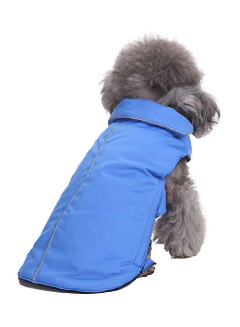 Shop Umiwin Reflective Two-faced Winter Coat For Dog Blue 30