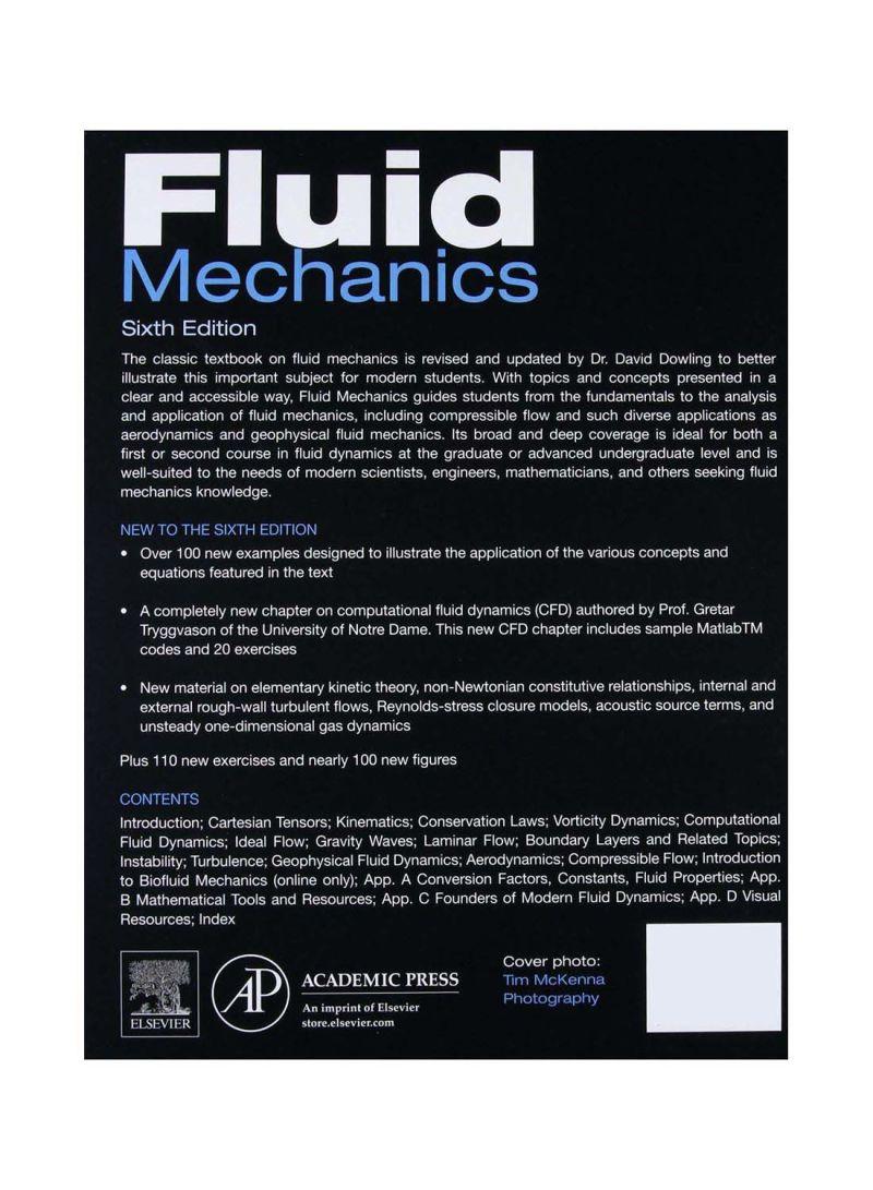 Shop Fluid Mechanics Hardcover 6th Edition online in Egypt
