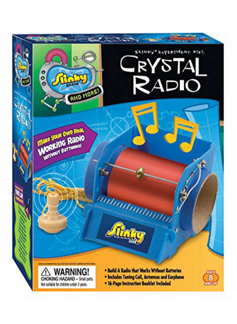 Buy poof slinky crystal radio kit, multi color online at low.