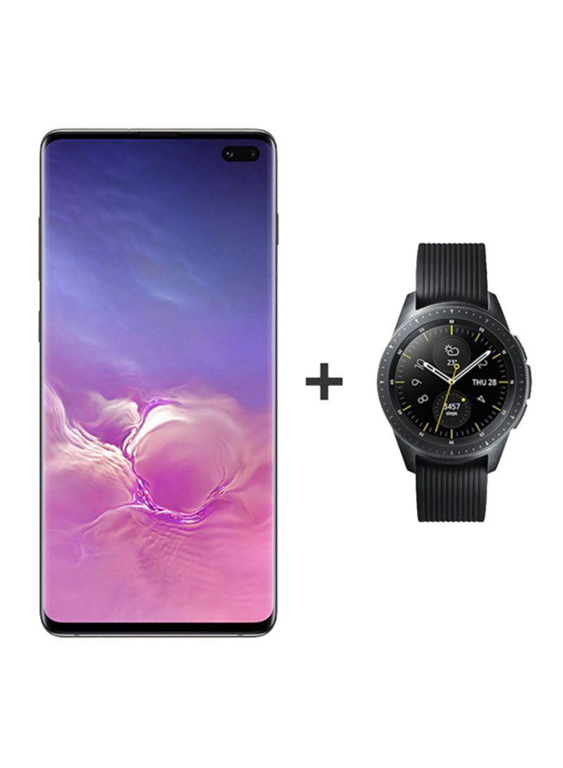 Shop Samsung Galaxy S10 Plus Dual SIM Ceramic Black 512GB 8GB RAM 4G LTE +  Galaxy Watch 42mm online in Dubai, Abu Dhabi and all UAE