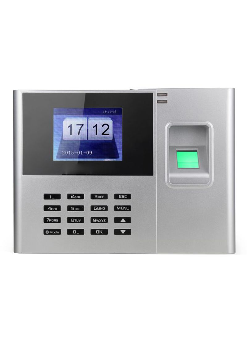 Shop Generic Biometric Attendance Machine With TFT LCD Screen Grey