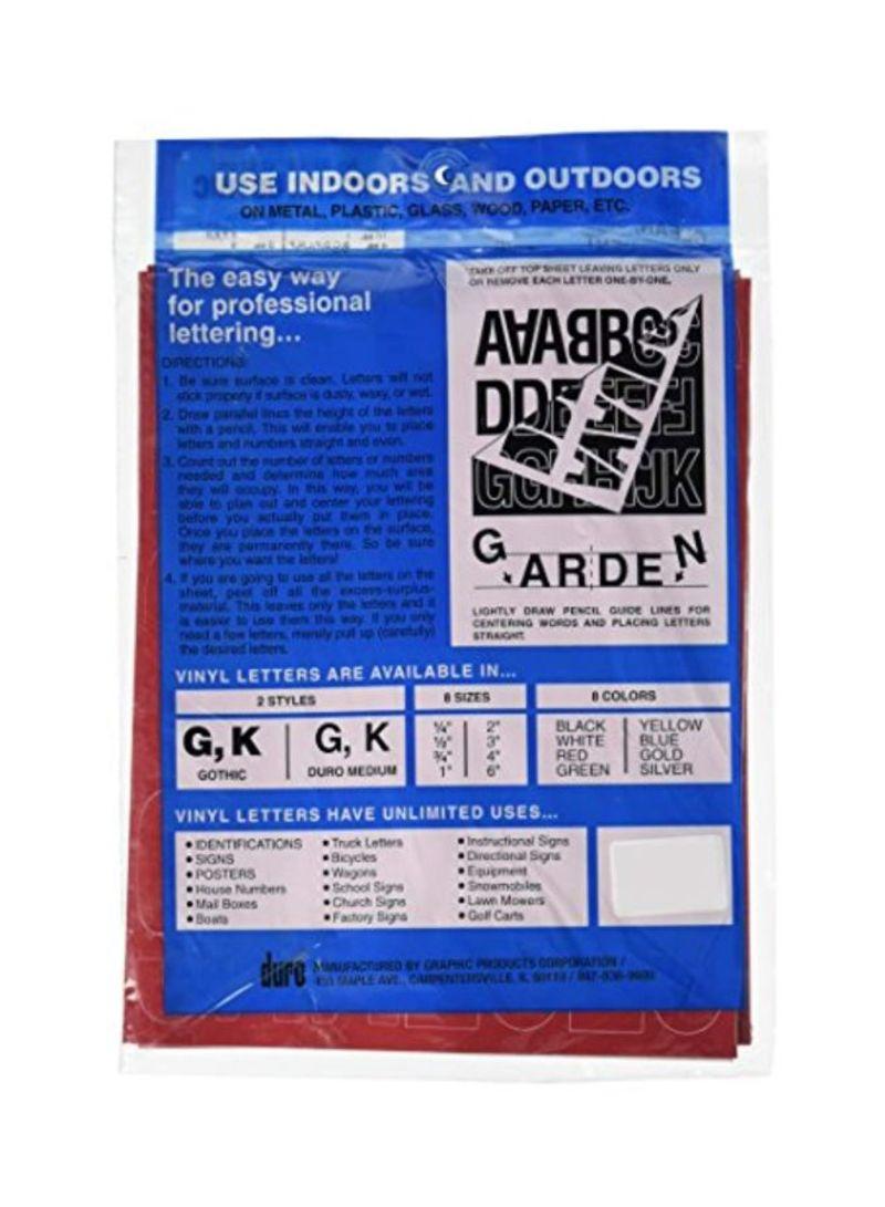 """6/"""" Duro Medium Blue Duro Decal Permanent Adhesive Vinyl Letters"""