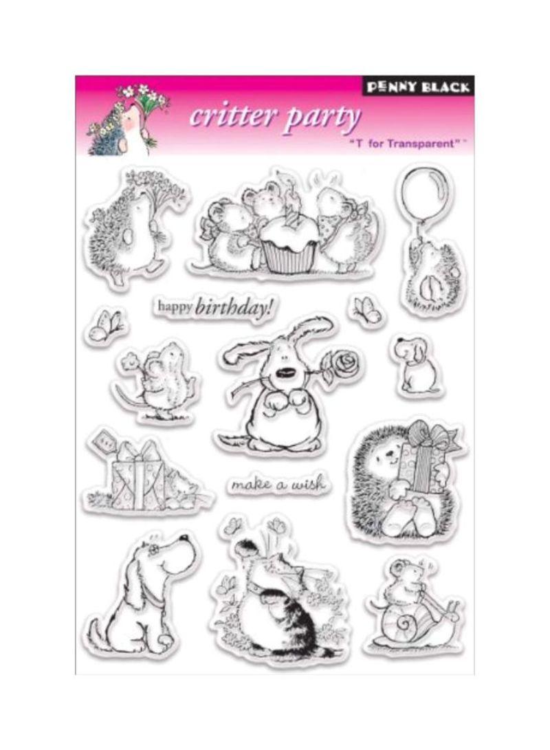 Penny Black Birthday Party Decorative Stamp