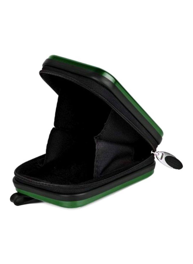 Green VanGoddy Pascal Mettalic Metal Case for Panasonic Lumix DMC FT30 Digital Cameras and Screen Protector