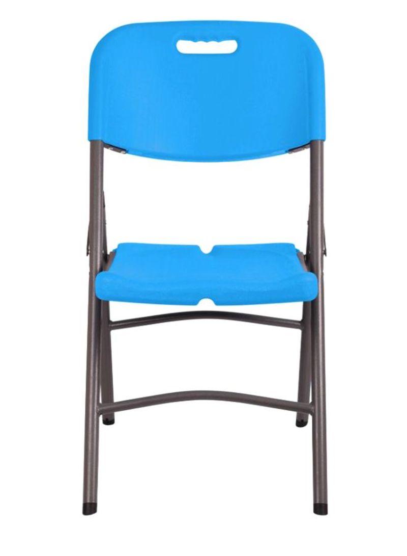 Shop Mintra Metal Folding Chair Light Blue/Grey 10 x 10