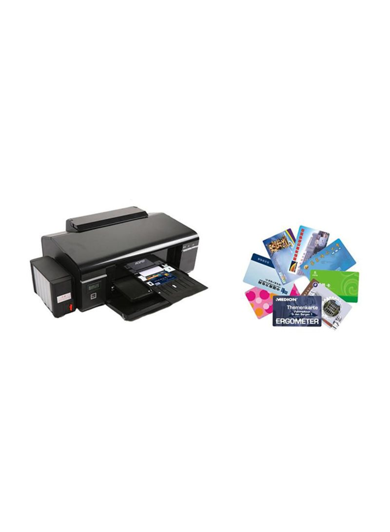 Shop EPSON PVC Card printer Epson L 805 A 4 Wireless Photo Printer BLACK  86X54 mm online in Dubai, Abu Dhabi and all UAE