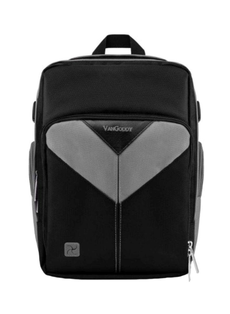 Vangoddy Sparta Travel Backpack for Fujifilm FinePix is Pro S5 Pro Digital SLR Cameras and Mini Tripod and Screen Protector Black and Red