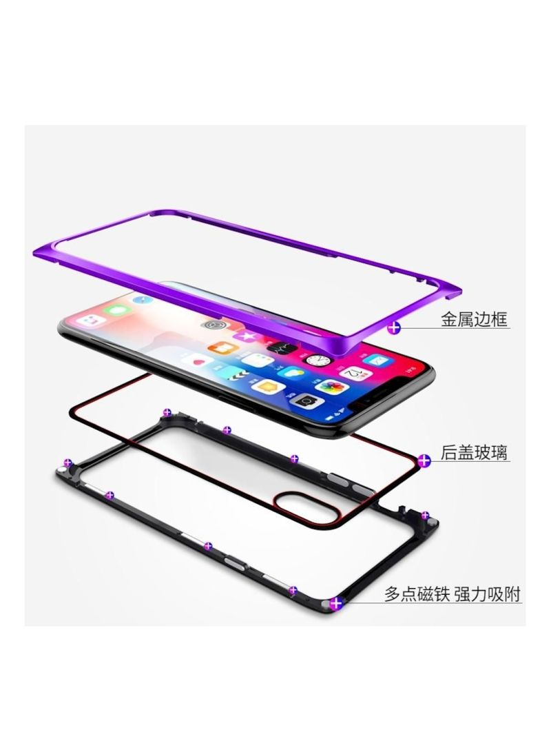 Shop Generic Protective Case Cover For Apple iPhone X/XS Black/Purple  online in Dubai, Abu Dhabi and all UAE