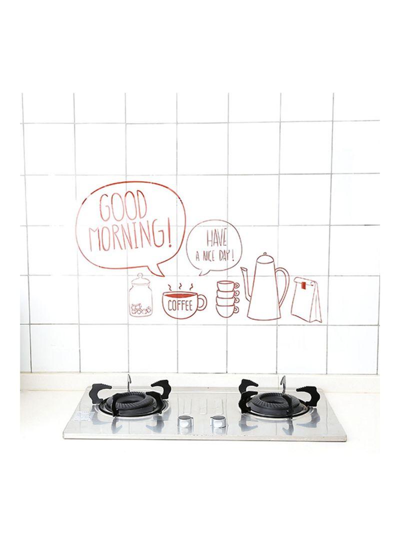 Shop Anti Oil Waterproof Transparent Kitchen Decor Multicolour 9